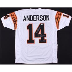 Ken Anderson Signed Bengals Jersey With (4) Inscriptions (TSE COA)