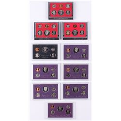 Lot Of (10)  United States Mint Proof Sets With 1980, 1981, 1982, 1983, 1984, 1985, 1986, 1987, 1988