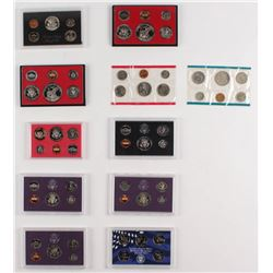 Lot of (11)  United States Mint Proof Sets With 1969, 1977, 1978, (2) 1979, 1982, 1983, 1985, 1987,