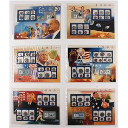 Lot of (6) U.S. Mint Sets with First Day Issue Postmarks