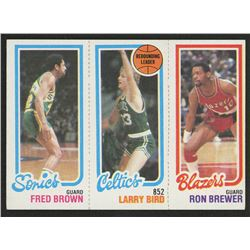 1980-81 Topps #165 228 Fred Brown / 31 Larry Bird TL / 198 Ron Brewer