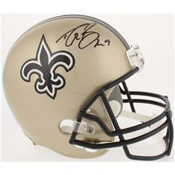 Drew Brees Signed Saints Full-Size Helmet (Radtke COA  Brees Hologram)