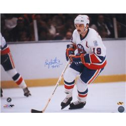 "Bryan Trottier Signed Islanders 16x20 Photo Inscribed ""HOF '97"" (MAB Hologram)"
