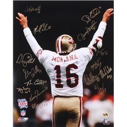 49ers Super Bowl XXIV 16x20 Photo Signed By (15) With Don Griffin, Keena Turner, Harry Sydney, Bruce