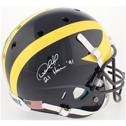 "Desmond Howard Signed Michigan Wolverines Full-Size Helmet Inscribed ""Heisman '91"" (Radtke COA)"