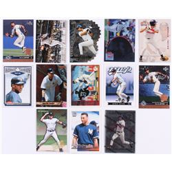 Lot of (13) Derek Jeter Baseball Cards with 1994 Ted Williams #124, 2011 Bowman Bowman's Best #BB11,