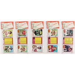 Lot of (5) 1976 Topps Football Unopened Holiday Rack Packs of (12) Football Cards Each