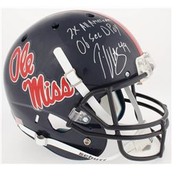 "Patrick Willis Signed Ole Miss Rebels Full-Size Helmet Inscribed ""2x All American""  ""06 Sec DPoy"" (R"