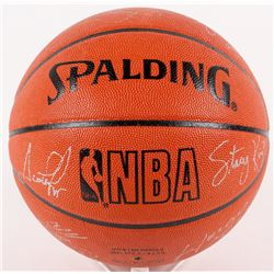 1991-92 Bulls Game Ball Series Basketball Team-Signed By (12) With Michael Jordan, Scottie Pippen, H