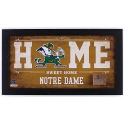 Notre Dame Fighting Irish 12x22 Custom Framed Stadium Bench Display (Steiner COA)