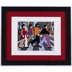 """The Beatles"" 16x19 Custom Framed Hand-Pained Animation Cel"