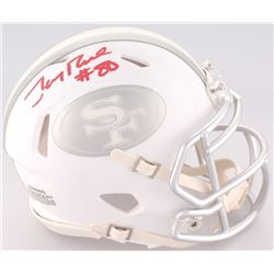 Jerry Rice Signed 49ers Mini ICE Speed Helmet (Radtke COA)