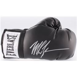 Mike Tyson Signed Black Everlast Boxing Glove (JSA COA)