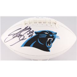 Steve Smith Sr. Signed Panthers Logo Football (Radtke COA)