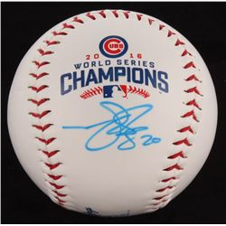 Matt Szczur Signed 2016 Cubs World Series Champions Baseball (Schwartz COA)