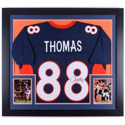 Demaryius Thomas Signed Broncos 31.5x35.5 Custom Framed Jersey (JSA COA)
