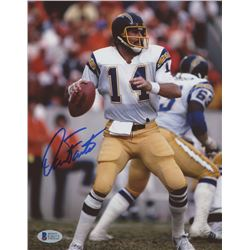 Dan Fouts Signed Chargers 8x10 Photo (Beckett COA)