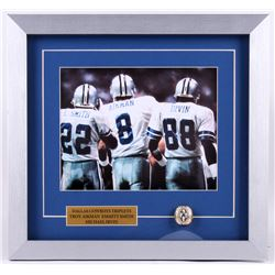 """Dallas Cowboys Triplets"" 15x16 Custom Framed Photo Display with Ring"
