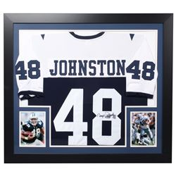 "Daryl ""Moose"" Johnston Signed Cowboys 31.5x35.5 Custom Framed Jersey (JSA Hologram)"
