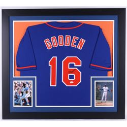 "Dwight ""Doc"" Gooden Signed Mets 31.5x35.5 Custom Framed Jersey (JSA COA)"