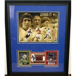 Archie Manning, Peyton Manning  Eli Manning 16x20 Custom Framed Auto Card Display