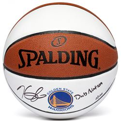 "Kevin Durant Signed Limited Edition Warriors Logo Basketball Inscribed ""Dub Nation"" #35/135 (Panini"