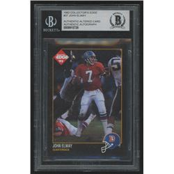 John Elway Signed 1992 Collector's Edge #37 (BGS Encapsulated)