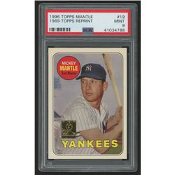 1996 Topps Mantle #19 Mickey Mantle / 1969 Topps (PSA 9)