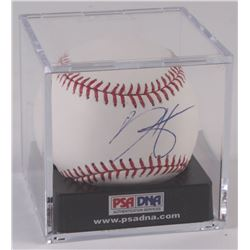 Bryce Harper Signed OML Baseball With Display Case (PSA LOA)