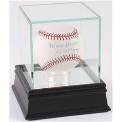 "Moose Skowron Signed OML Baseball Inscribed ""5X WS Champs"" With High Quality Display Case (PSA COA)"