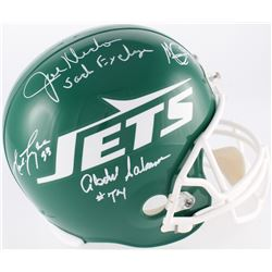 "Jets ""New York Sack Exchange"" Full-Size Helmet Signed by (4) with Joe Klecko, Abdul Salaam, Mark Gas"