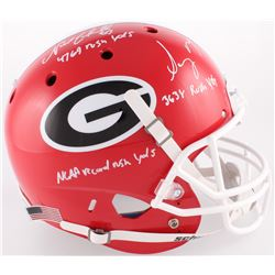 "Nick Chubb  Sony Michel Signed Georgia Bulldogs Full-Size Helmet Inscribed ""4769 Rush Yds"", ""3638 Ru"