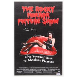 "Tim Curry Signed ""The Rocky Horror Picture Show"" 12x19.25 Photo on Canvas (PSA COA)"