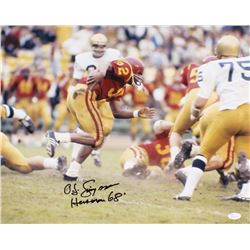 "O.J. Simpson Signed USC Trojans 16x20 Photo Inscribed ""Heisman 68"" (JSA COA)"