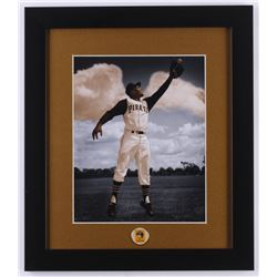 "Roberto Clemente ""Pirates"" 13x15 Custom Framed Photo with Pin"