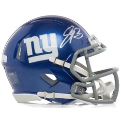Saquon Barkley Signed Giants Mini Helmet (Panini COA)