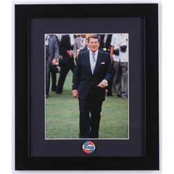 Ronald Reagan 13x15 Custom Framed Photo with Pin