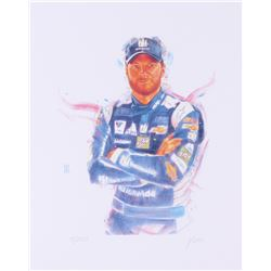 Dale Earnhardt Jr. NASCAR 11x14 Limited Edition Fine Art Print by John Yim #/100