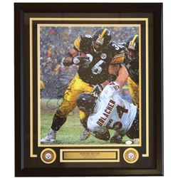 Jerome Bettis Signed Steelers 22x27 Custom Framed Photo Display (JSA COA)