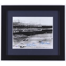 "Bobby Thomson and Ralph Branca Signed ""The Shot Heard 'Round The World"" 13x15 Custom Framed Photo Di"