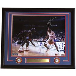 Allen Iverson Signed 76ers 22x27 Custom Framed Photo Display (JSA COA)