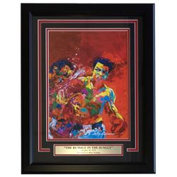 "Leroy Neiman ""The Rumble in the Jungle"" 16x20 Custom Framed Print Display"