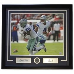 Dak Prescott  Ezekiel Elliott Cowboys 22x27 Custom Framed Photo