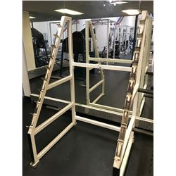 PARAMOUNT WHITE / BLUE ANGLED SQUAT RACK