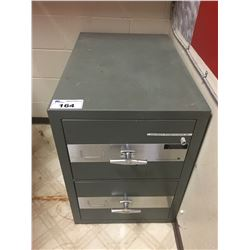 FORT NATIONAL 2 DRAWER FIREPROOF CABINET