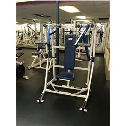 HAMMER STRENGTH WHITE / BLUE VERTICAL CHEST PRESS