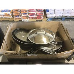 Box of Assorted Pots  Pans