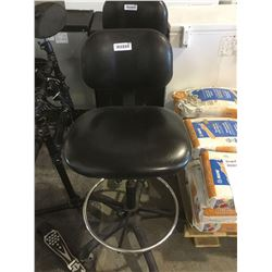 Black Leather Rolling Swivel Chair