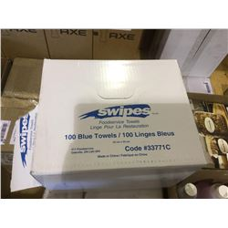 Box of Swipes Blue Towels 100 Count