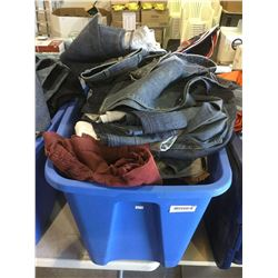 Bin of Assorted Clothing